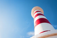Lighthouse. Beautiful lighthouse at gran canaria - unusual angle Royalty Free Stock Photo