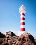Lighthouse. Beautiful lighthouse at gran canaria - unusual angle Royalty Free Stock Photos