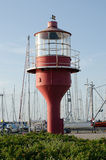 Red lighthouse. Old light house in south sweden Stock Photo