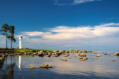 Lighthouse. At the coast of the baltic sea. summertime Royalty Free Stock Photography