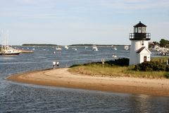 Lighthouse. At Cape Cod Royalty Free Stock Photo