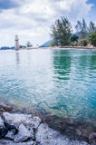 Lighthouse. View of a lighthouse at Teluk Burau, Langkawi Island Stock Images