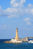 Lighthouse. A lighthouse with large sky area and some clouds. This lighthouse is in Alexandria, Egypt Stock Photos