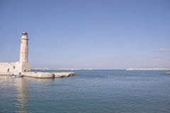 Lighthouse. At rethymnon Royalty Free Stock Photography