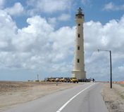Lighthouse. The image shows a lighthous on the carebbean island Aruba royalty free stock photography