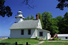 Lighthouse. Old Mission Lighthouse on Grand Traverse Bay Stock Images
