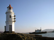 Lighthouse. Russia. Vladivostok. Japan sea. Lighthouse royalty free stock photography