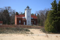 Lighthouse - 40 Mile Point, Michigan Stock Images