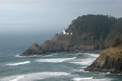 Lighthouse. Heceta Head historic lighthouse, pacific coast, Oregon Royalty Free Stock Photography