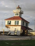 The Lighthouse. The damaged lighthouse in Lakeview, following Hurricane Katrina royalty free stock photos