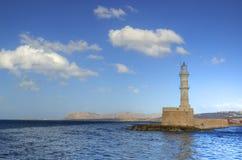 Lighthouse. Beacon in Chania, Ctrete, Greece Royalty Free Stock Photos