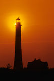Lighthouse. A lighthouse is getting ready to guide all the ships safely to the harbor Royalty Free Stock Images