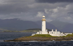 Lighthouse. Near a approaching storm stock photography