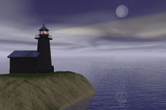 Lighthouse. At shore Vector Illustration