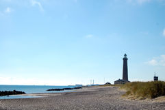 Lighthouse. The lighthouse on Skagen beach Royalty Free Stock Photo