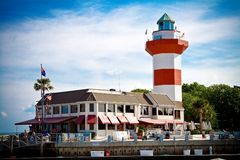 Lighthouse. A lighthouse stands in Harbour Town, South Carolina Stock Photo