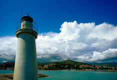 Lighthouse. A lighthouse on the seafront in Imperia, Italy stock photo