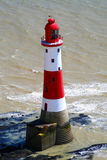 Lighthouse. My resent trip near Brighton found this lighthouse in a place called Beachy Head Stock Photography