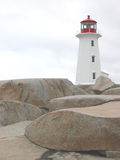 Lighthouse. Peggy's cove stock image