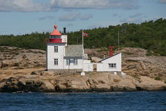 Lighthouse. On the norwegian coast Stock Photo