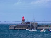 Lighthouse. Evening on pier at Dun Laoghaire, Co.Dublin, Ireland Royalty Free Stock Photos