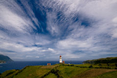 The lighthouse. Mahatao lighthouse, one of the famous lighthouse in Batanes, Philippines Royalty Free Stock Photos