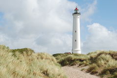 Lighthouse. On denmark west coast of Jutland Royalty Free Stock Photos