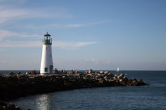 Lighthouse. Aged lighthouse in Santa Cruz, CA Stock Image