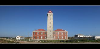 Lighthouse. Panoramic royalty free stock photography