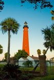 Lighthouse. Ponce Inlet Lighthouse. The lighthouse was Erected in 1886 and stands 176.5 ft. tall Stock Photos