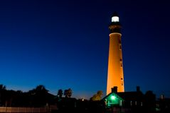 Lighthouse. Ponce Inlet Lighthouse at dusk. The lighthouse was Erected in 1886 and stands 176.5 ft. tall Royalty Free Stock Photography