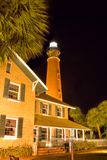 Lighthouse. Ponce Inlet Lighthouse at dusk. The lighthouse was Erected in 1886 and stands 176.5 ft. tall Stock Photography