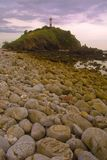 Lighthouse. In thailand on island koh lanta with stones in foreground Stock Images