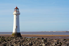 Lighthouse. At New Brighton, Merseyside, England stock photos