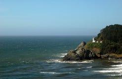 Lighthouse. A light house on the Oregon Coast stock photo