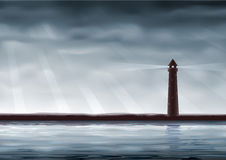 Lighthouse. (other landscapes are in my gallery Royalty Free Stock Image