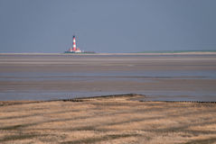 Lighthouse. Of westerhever / eiderstedt / germany Royalty Free Stock Images
