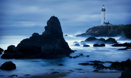 Lighthouse. On California coast south of San Francisco Stock Photo