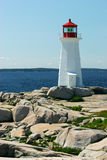 Lighthouse. A lighthouse in Peggy's Cove, Nova Scotia Royalty Free Stock Images