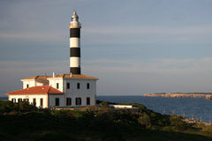 Lighthouse. Tower of portocolom Royalty Free Stock Photography