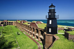 Lighthouse - A Part Of Dry Tortugas National Park. Royalty Free Stock Photos
