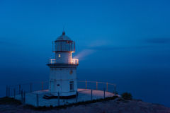 Lighthouse above the sea Royalty Free Stock Photo