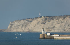Lighthouse in the Abra, Getxo Stock Images
