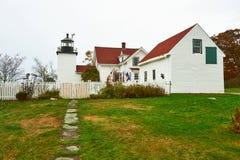 Lighthouse at Acadia National Park, Maine Stock Photo