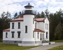 Lighthouse at Admiralty Head Fort Casey Washington royalty free stock image