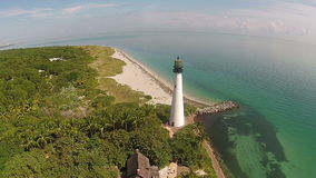 Lighthouse aerial view stock footage