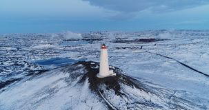 Lighthouse in aerial view Royalty Free Stock Photo