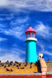 Lighthouse Against Blue Sky Royalty Free Stock Images