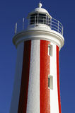 Lighthouse. A red and white lighthouse against a clear blue sky Stock Photos