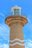 Lighthouse against cloudy blue sky. Royalty Free Stock Image